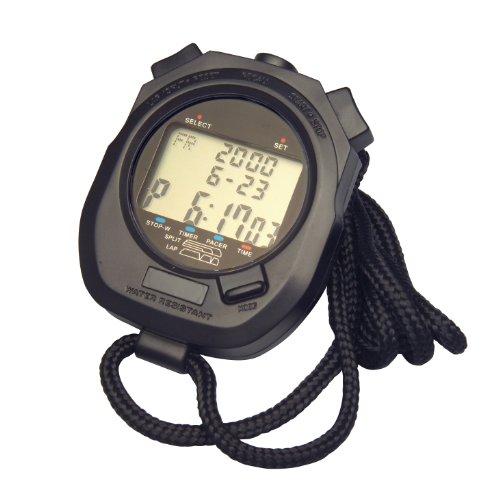 H-B DURAC Digital Plastic Stopwatch; 10 Hour with Clock and Calendar (B61700-5200)