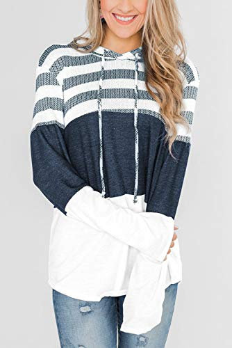 GOLDPKF Block Colour Sweatshirt Top Hoodie Sports Gear Women Tops Shirt Winter Gym Clothes Baggy Oversized T Shirts for Women White UK18 UK20