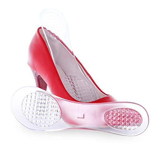 MAROL Einlagen für High Heels Schuhe Soft Gel 3/4 Einlegesohlen Pumps Gelkissen Relief für Fersensporn Schuheinlagen fuer Damen Schuhe Geleinlagen antirutsch Universall Große