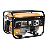 Cooller Generators Petrol Silent, 4000 Watt Gas Powered Portable Generator Engine for Jobsite RV Camping Standby, Run Time Up to 10 hours Suitable for Outdoor Activity