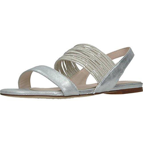 KESS Damen Sandalen Sandaletten 16466 Silber 37 EU