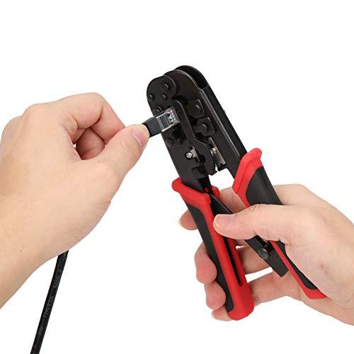 lyrlody Kit de Herramientas de Mantenimiento del probador de Cables, Kit de Herramientas de prensado RJ45 Herramienta de Mantenimiento de reparación de Cables de Red de plástico + Metal, para RJ11