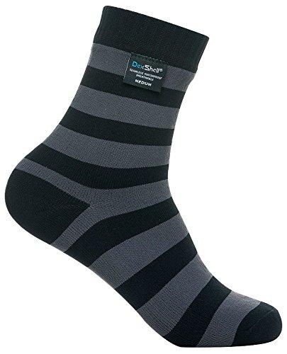 Dexshell wasserdichte Ultralite-Bambus-Socken Small Schwarz / Grau