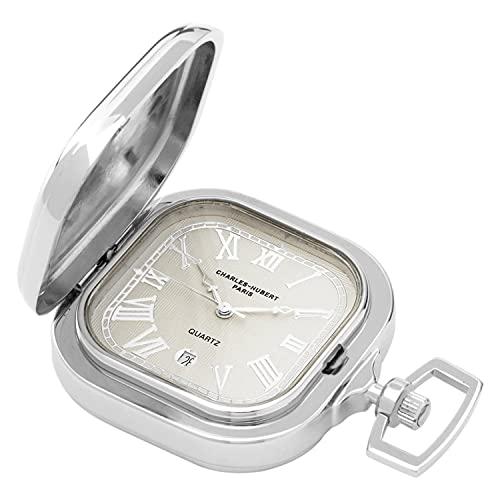 Charles-Hubert, Paris Two-Tone Quartz Pocket Watch: Watches