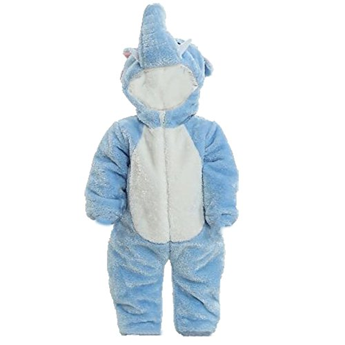OHmais Bébé Fille garçon Unisexe Grenouillère Costume Deguisement Combinaison Pyjamas Hiver Elephant