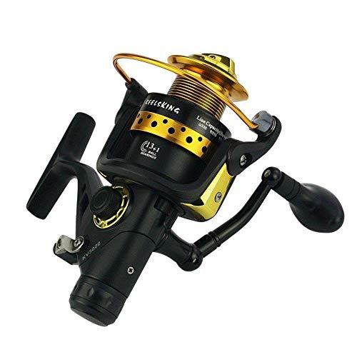 HXF- Descarga Línea Doble de Pesca de Metal Cabeza Freno Delantero y Trasero Mar del Carrete Rueda de Pesca Lanzar Caña de Ruedas Pesca Precisión (Size : 4000)