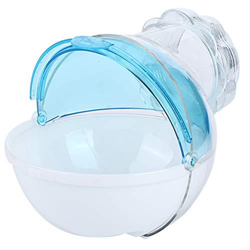 HEEPDD Baño de Arena de hámster, contenedor de baño de Arena de plástico Inofensiva casa de baños de Chinchilla para pequeños Animales Chinchilla Osos de Oro Oso Negro Hamsters Ratón (Azul)