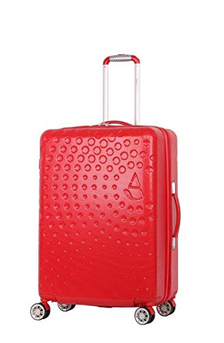 "Aerolite Medium 25"" Lightweight ABS Hard Shell 4 Wheel Hold Check in Luggage Suitcase, (RED)"