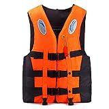 Giubbotti di Salvataggio per Adulti, Kayak Nuoto Giubbotto Salvagente con Strisce Riflettenti e Fischietto, Aiuti Professionali Al Galleggiamento di Sicurezza Regolabili per Snorkeling, Pesca,XXXL
