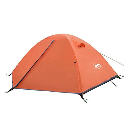 テント,Findway アウトドア ツーリング テントドーム型 二重層 防水/防風 軽量 コンパクト UVカット 2人用 ...