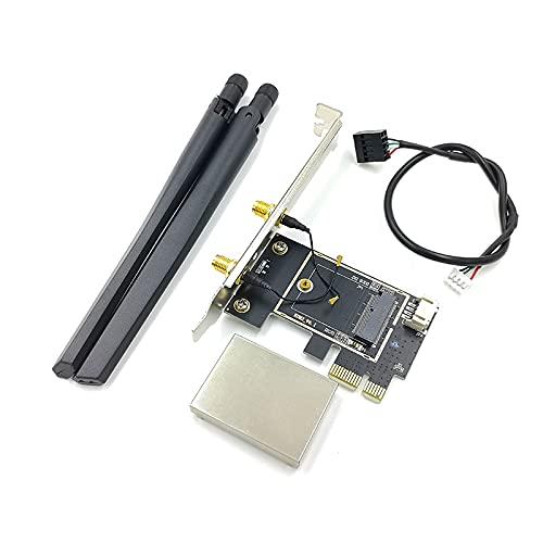 BTUWRUI PCIE WiFi scheda Dual Band Repetidor per schede di rete wireless adattatore per PC desktop AX200 9260AC