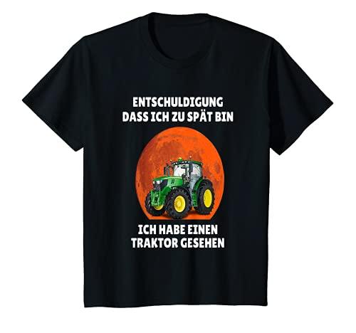 Kinder Entschuldigung das ich zu spät bin hab einen Traktor gesehen T-Shirt