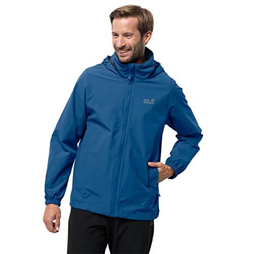 Jack Wolfskin Stormy Point Jacket M, wasser- und winddichte Allwetterjacke für Herren, robuste Hardshelljacke für jedes Wetter, atmungsaktive Herren Regenjacke, blau (electric blue), S