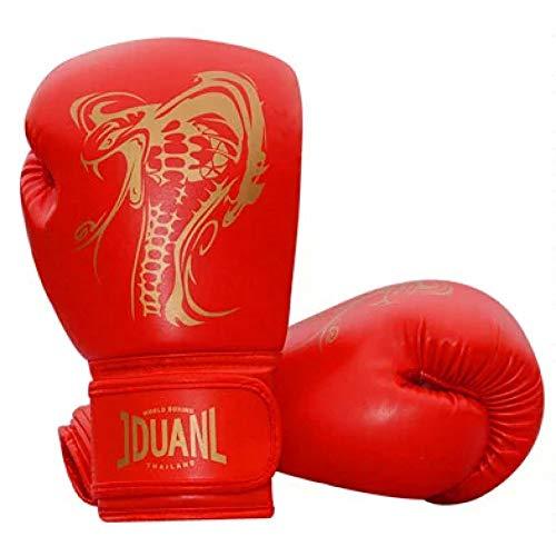 CXKWZ Boxhandschuhe Boxhandschuh Kung Fu Kampfkunst Kampf Muay Thai Kinder Erwachsene Sandsack TrainingsgeräteHandschuhe Rot Schwarz Weiß