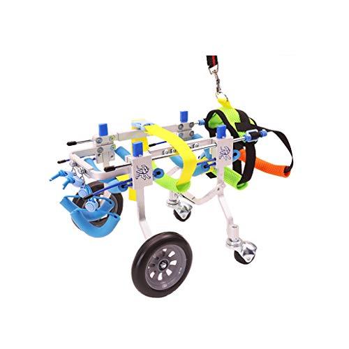 """Gfbyq Verstellbarer Hundehaustier-Rollstuhl, Hüfthöhe 7\""""-20\"""", Gewicht 8 Bis 55 Lbs, Hinterbeine Rehabilitatio, 4-Räder-Hundewagen (größe : M)"""