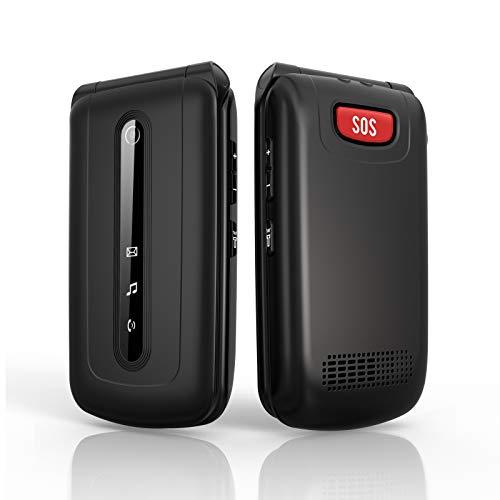 Telefono Cellulare per Anziani con Tasti Grandi, Ukuu 3G Funzione SOS 2.4' Display 900mAh Batteria Lungo Standby, Chiamata Rapida and Torcia, Volume Alto da Usare per Gli Anziani