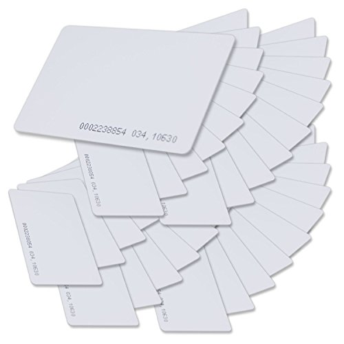 AlleTechPlus Contactless 125kHz Id RFID Proximity Smart Entry Access Card (Snow White, Thickness 0.8mm/0.03