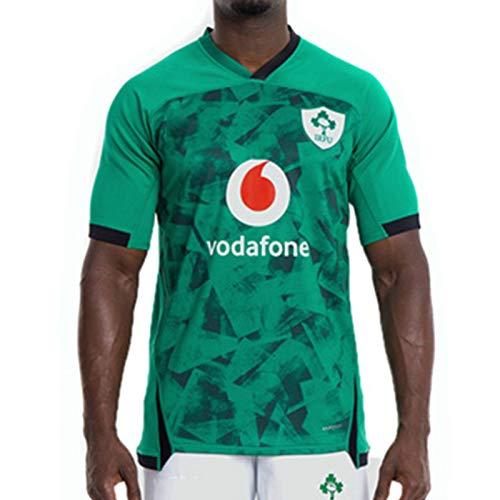 Männer Rugby Jersey, 2021 Irland Heim- und Auswärts Rugby, Irish-Weltmeisterschaft Rugby-T-Shirt, Fans Ausgabe Jersey-Weste-Hemd Sport Fans Polo-Hemd Home-XL