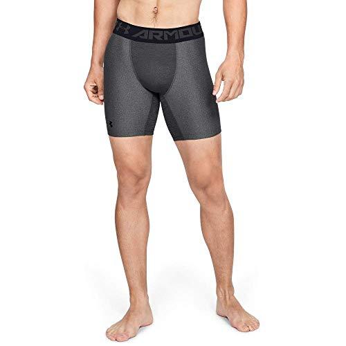 Under Armour Heatgear Armour 2.0 Comp Shorts Pantalón Corto, Hombre, Gris (Carbon Heather/Black 090), L