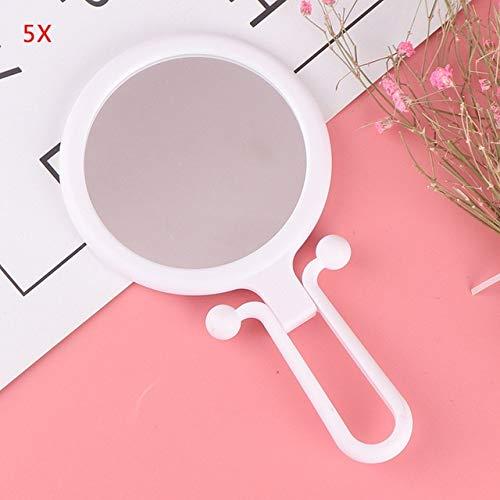 Miroir tenu dans la main de maquillage de grossissement avec le support, miroir compact se pliant pour le voyage de dames WT-5X