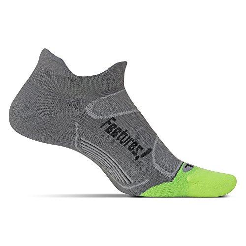 Feetures! - Elite Light Cushion - No Show Tab - Capri/Pink Pop - Size Medium - Athletic Running...