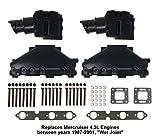 4.3L Mercruiser Exhaust Manifold & Elbow/Riser Kit. 99746A17, 807988A03