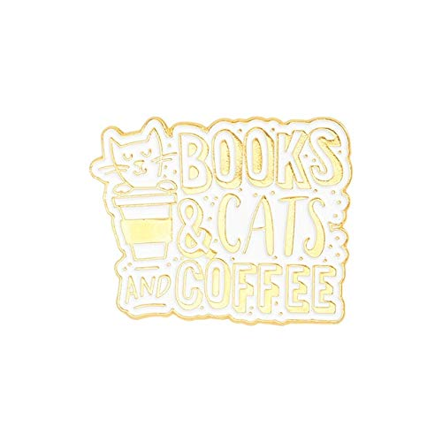 Gatos Café Pin de esmalte Personalizado Pug Puppy Cat Café Broches Insignias Bolsa Camisa Pin de solapa Hebilla Joyería animal lindo Regalo para amigos-Style4