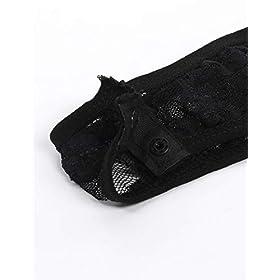 Yeahdor Women's Floral Lace High Cut Thong Leotard Top Long Sleeve Slim Fit Bodysuit Teddy Nightwear