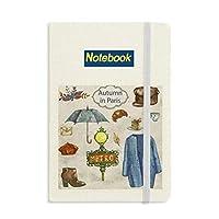 ドレスの傘のフランス生活 ノートブッククラシックジャーナル日記A 5