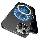 ENSKKO Funda magnética delgada diseñada para iPhone 12 Pro Max ultra fina antideslizante superficie mate PC duro compatible con accesorios MagSafe iPhone 12 ProMax Case 6.7'', gris oscuro