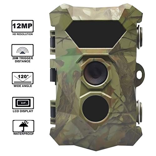 Outdoor Trail Camera-Game Jacht Cam 16MP/1080P Waterdicht 120° Detecteren Bereik Nachtzicht Motion Geactiveerde Wildlife Scouting Full HD Monitoring 2.4