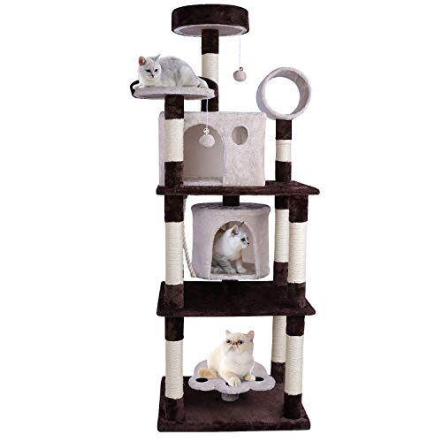 OOTORI Multi-Level Cat Tree for Big Cats Condo Kitten Play House $87.75 (55% Off with code)