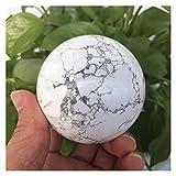 WERWER Bola de Piedra de Pino Blanco Natural Bola de Cristal Pulido a Mano Cristal Natural Reiki Decoración del hogar Artesanía (Size : 5.5-6cm)