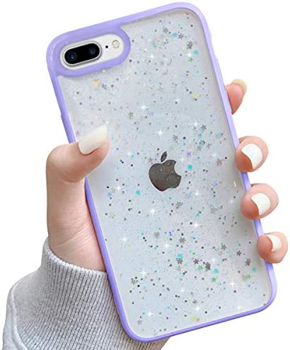 Ownest Compatible with iPhone 7 Plus Case iPhone 8 Plus Case Clear Sparkly Bling Star Glitter product image