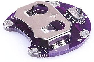 sourcingmap/ /10/pz CR//LIR2032/2025/2016/2/terminali Orizzontale Coin Button Battery Holder Nero Contenitore di