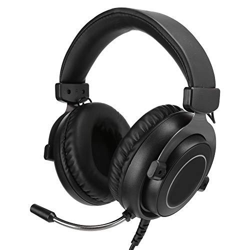 Exliy Auriculares con Cable, Auriculares para Juegos de 3,5 mm + USB, Auriculares con micrófono estéreo con reducción de Ruido, para Win7 / Win8 / Win8.1 / Win10 / XP