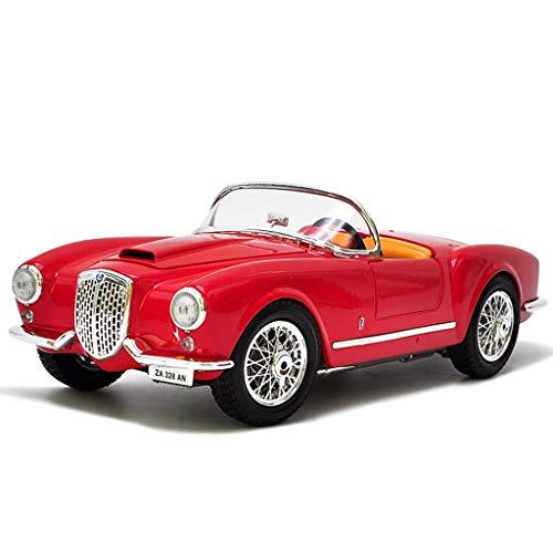 Proporzione 1:18 1955 Lancia Aurelia B24 Spider Die Casting Modello di Auto Classic Car Alloy Model Car Toy Collection Display Gift Decoration Model Car (Color : Red, Size : 25cm*11cm*7.5cm)