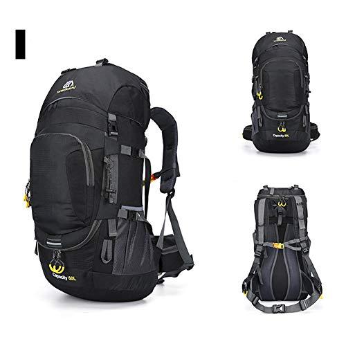 Fancylande Trekkingrugzak, 60 l, waterdicht, met regenbescherming voor dames en heren, reisrugzak voor klimmen, kamperen, outdoor-sport