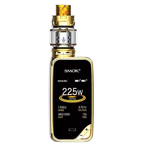 SMOK X-PRIV Kit 225W E Sigaretta Elettronica Kit Completo Vape TC Box Mod con Top Refill TFV12 Prince Tank Atomizzatore 0.4ohm Resistenza Senza Nicotina Tabacco Liquido (Prisma Oro)