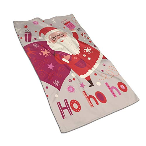 N/W Merry Christmas Hand Towels 15.7x27.5 Inch,Santa Claus Carrying Gifts Thin Towel,Portable Small Towel Bedroom Bathroom Kitchen Decor
