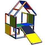 move and stic - Casa de juegos navideña con inclinación para niños pequeños, multicolor para habitaciones infantiles, interiores y exteriores, casa de jardín