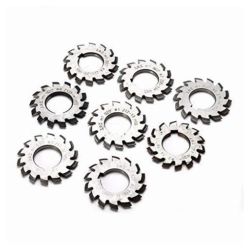 MEICHEN 8 stks M1 Involute Gear Milling Cutter Set 20 Graden 22mm Bore #1-8 Assortiment Set voor Freesmachine Gereedschap