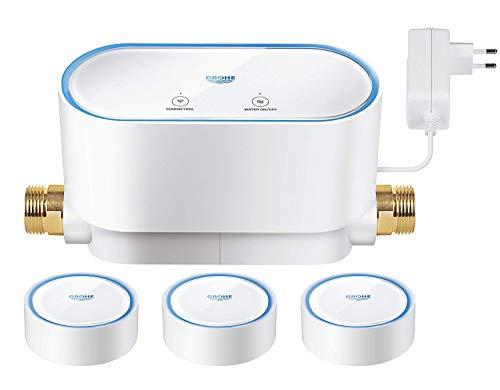 GROHE Sense Set | Smart Home Wassersicherheitssystem - 1x GROHE Sense Guard + 3x GROHE Sense | weiß | 22502LN0
