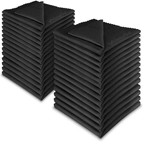30x LetsSwipeThat Mikrofasertücher - 20x20 cm Mikrofaser Brillenputztuch. Kamera Objektiv Microfaser Reinigungstücher. LCD, Led TV Bildschirm Microfasertuch Reinigung. Laptop pc Display Reiniger Tuch