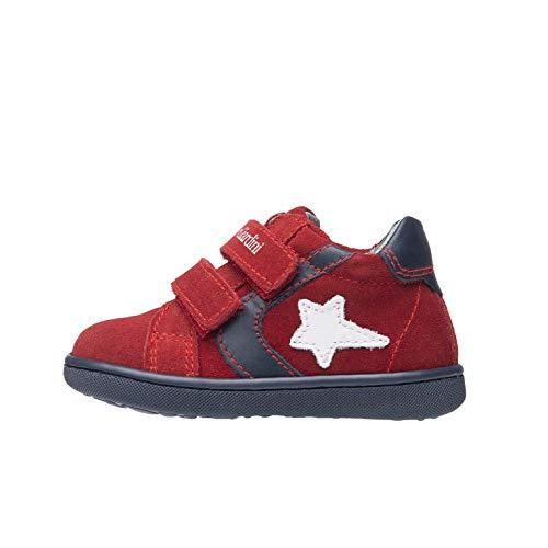 Nero Giardini A919000M Sneakers Baby da Bambino in Pelle E Camoscio - Rubino 19 EU