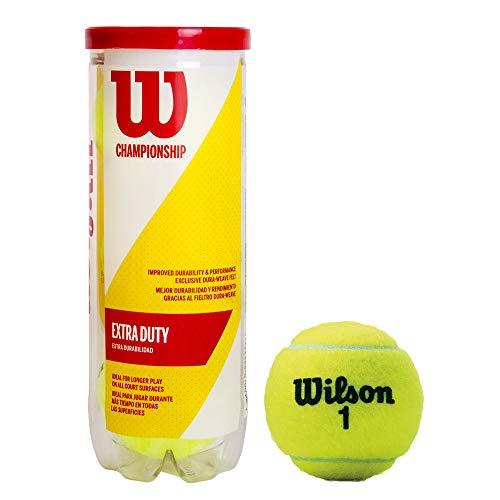 Balles de Tennis Wilson, Champ Extra Duty, Boîte de 3, pour tous les Revêtements, Jaune, WRT100101