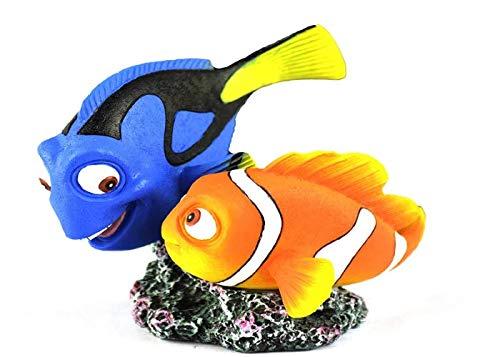 HERITAGE HCL154 NEMO & DORY CLOWN & TANG FISH AQUARIUM TANK ORNAMENT HANDPAINTED DECORATION 10CM