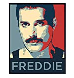 Freddie Mercury 8x10 Wall Art Poster - Cool Unique Gift for Queen, 80s Music, Bohemian Rhapsody Fans - Unframed Home Decor Picture Print