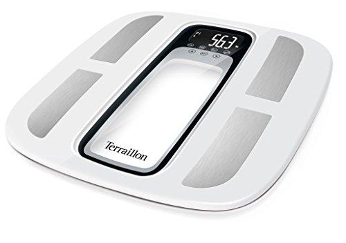 Terraillon 13348 Pèse personne Électronique blanc/noir 32,5 x 32,5 x 2,5 cm