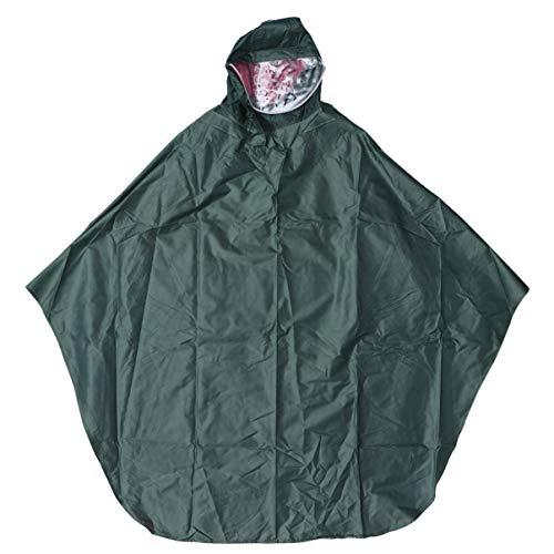 Garneck Hooded Regenjas Poncho Reflecterende Waterdichte Regenjas Lichtgewicht Regenjas voor Outdoor Activiteit Fietsen Camping (Groen) 120x120x0.2cm. Donker Groen